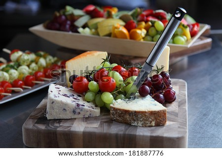 Summer low carb buffet - stock photo
