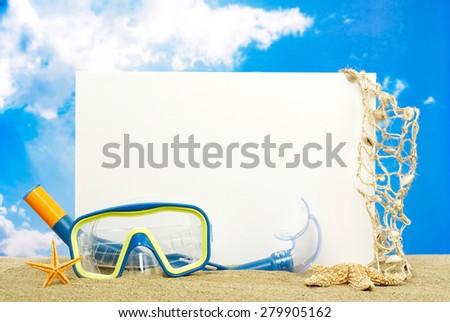 Summer message board - stock photo