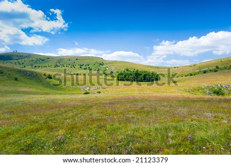 Summer mountain landscape in Crimea, Ukraine