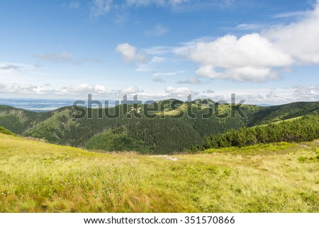 Summer mountain landscape season in the Tatras