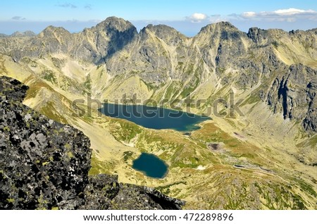 Summer mountain landscape. View of the beautiful valley in High Tatra, Slovakia.