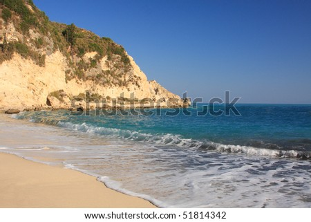 summer on the beach in Agios Nikitas Greece