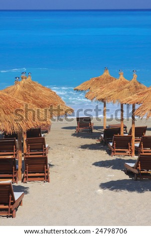 summer on the beach in Greece - Lefkas island