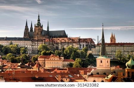 Summer panorama of Prague, Czech Republic - stock photo