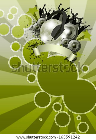 Summer party poster or flyer background with space - stock photo