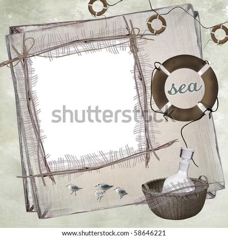 Summer Photo Frame - stock photo
