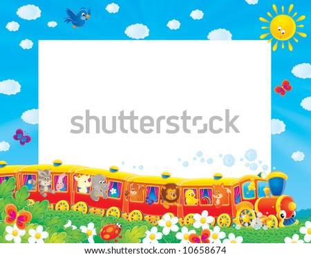 Summer photo-frame / background - stock photo