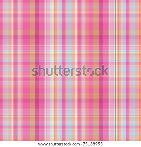 summer pink and blue candy plaid - stock photo