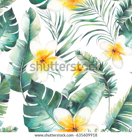 Green and white floral pattern - photo#42