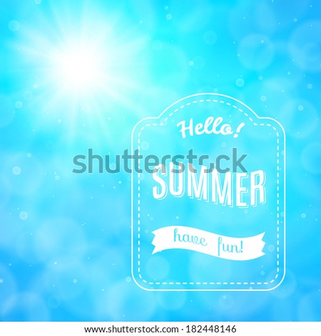 Summer poster,  background