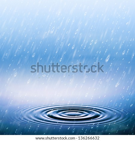 Summer rain, abstract natural backgrounds