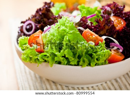 Summer salad - stock photo