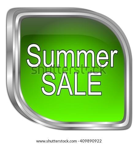 Summer Sale Button - 3D illustration - stock photo
