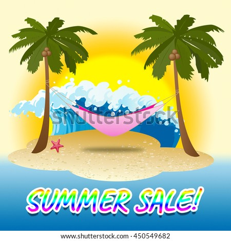 Summer Sale Indicating Warmth Clearance And Discounts