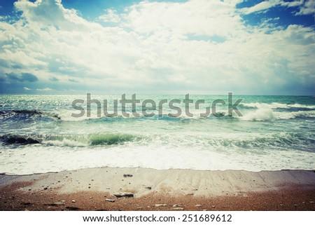Summer sea background  - stock photo
