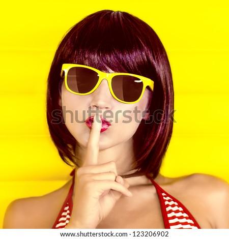 Summer secret girl - stock photo