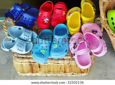 Summer shoes - stock photo