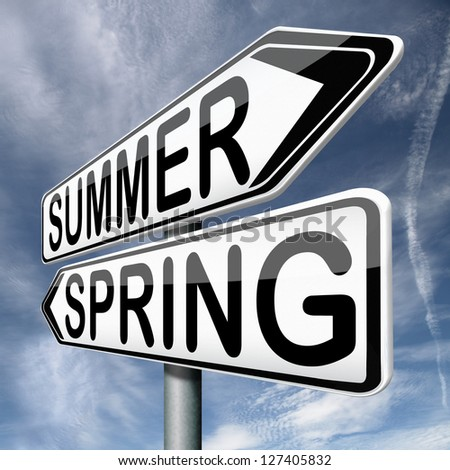 summer spring next season warm sunny holidays and vacation change of seasons