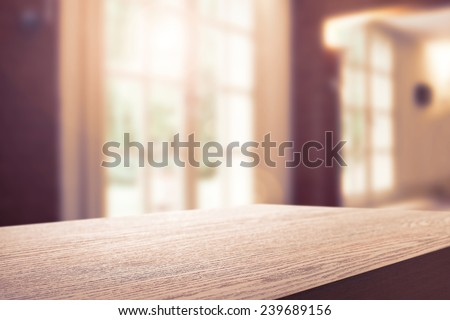 summer sun light and interior with top  - stock photo
