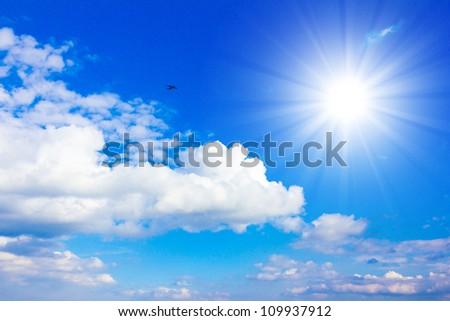 Summer Sun Shining Sunlight - stock photo