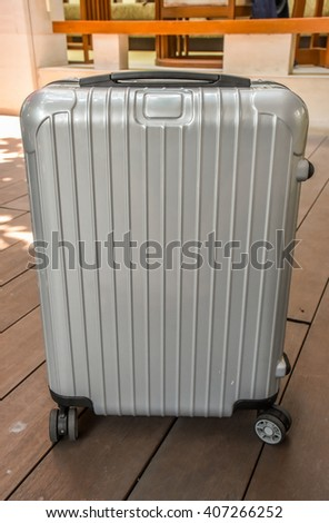 summer time / Travel suitcase  - stock photo