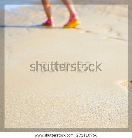 Summer times background - stock photo