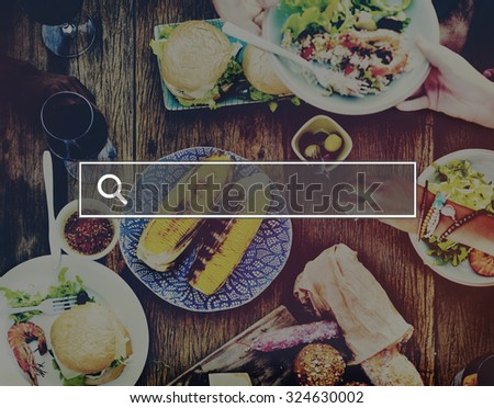 Summer Togetherness Friendship Searching Internet Concept - stock photo