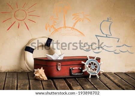 Summer travel and vacation concept - stock photo