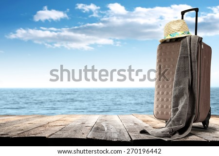 summer trip and sea  - stock photo