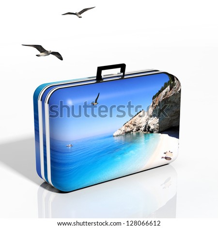 Summer vacation concept - stock photo