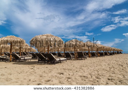Summer vacation on the beach - stock photo