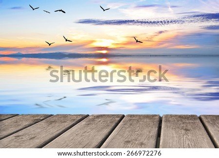 summer vacation on the lake - stock photo