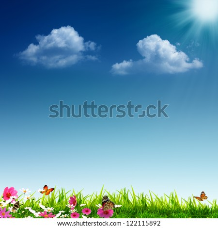 Summertime. Abstract eco backgrounds for your design - stock photo