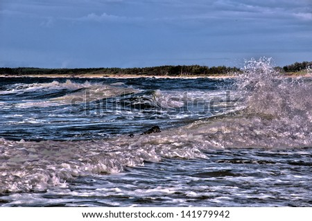 summertime and the sea - stock photo