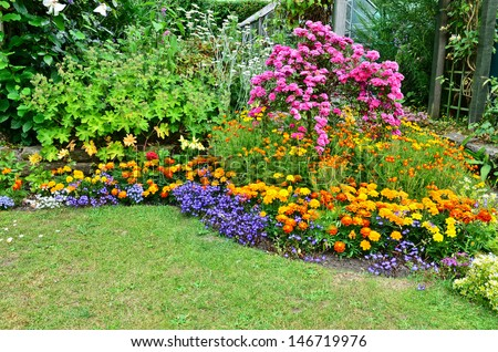 Summertime gardening - stock photo