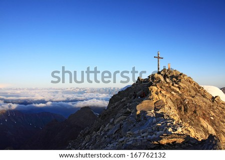 Summit Cross, Switzerland, Dolomiten, European Alps