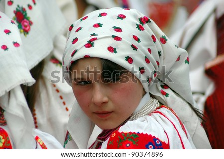 SUMULEU CIUC, ROMANIA - MAY 29: Unidentified Hungarian pilgrim gathers to celebrate the Pentecost and the catholic pilgrimage tradition, May 29, 2004 in Sumuleu Ciuc (Csiksomlyo), Romania