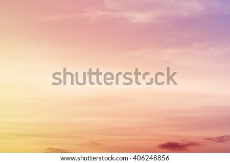 sun and cloud background with a pastel violet colored gradient - stock photo