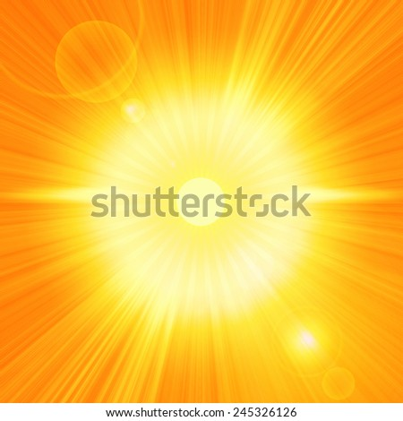 sun and rays background