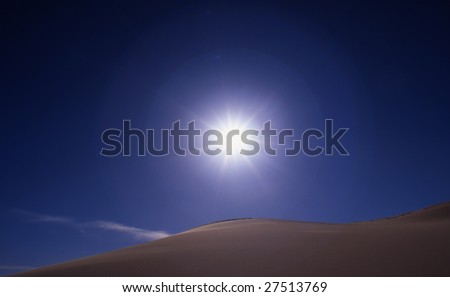 Sun and sand - stock photo