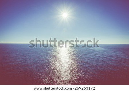 Sun and sea - stock photo