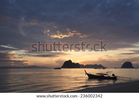 Sun and sky over andaman sea,Thailand  - stock photo