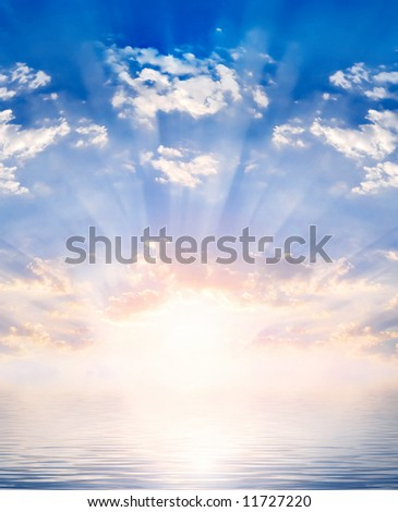 sun and water - stock photo