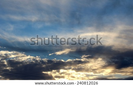 sun blue skies clouds background