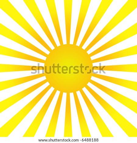 sun burst background - stock photo