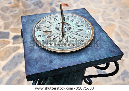 Sun clock - stock photo