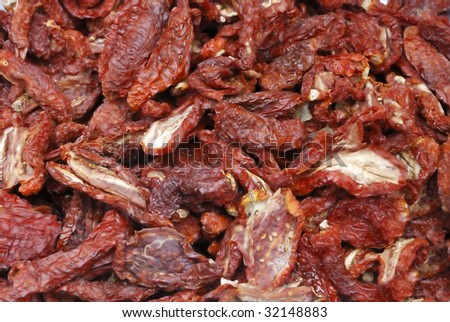 Sun Dried Tomatoes at a farmers market