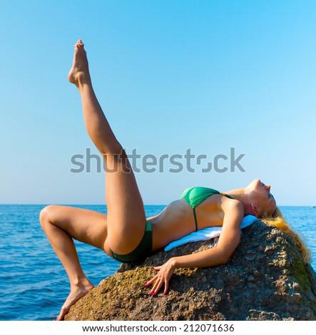 Sun Exercise Woman  - stock photo