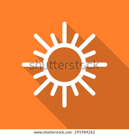 sun flat design modern icon with long shadow for web and mobile app  - stock photo