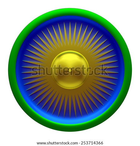 Sun form Pattern on the white background - stock photo